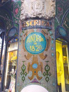 Escriba barcelona, pastry shop right outside mercato bacteria