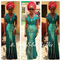 Green lace ~African fashion, Ankara, Kente, kitenge, African women dresses, African prints, African men's fashion, Nigerian style, Ghanaian fashion ~DKK