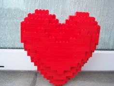 Sorry for the poor quality of the photo . Just for fun . Lego Valentines, Valentine Heart, Sculpture, Fun, Sculptures, Sculpting, Statue, Carving, Hilarious