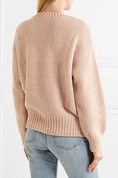 aabe51f62085 Chloé - Oversized Knitted Sweater - Antique rose