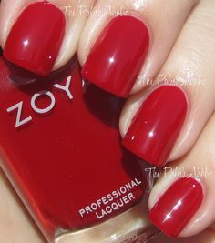 Love me some red nails! The PolishAholic: Zoya Fall 2012 Designer Collection Swatches! Zoya Nail Polish, Nail Polish Colors, Nail Polishes, Red Nails, Hair And Nails, Dark Red Lips, Eye Makeup Remover, Daily Beauty, Nail Polish Collection
