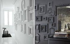 Home Decor Wall Art, Home Decor Bedroom, Gray Interior, Interior Design, Gallery Wall Frames, Creative Walls, Wall Treatments, Furniture Makeover, Interior Decorating