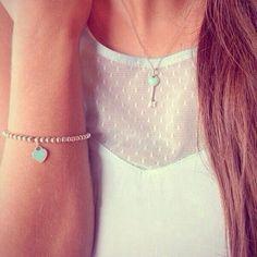 Tiffany and co bracelet to match my necklace <3