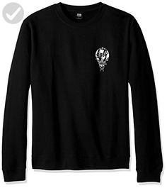 OBEY Men's Smash It up Crew Neck Fleece Sweatshirt, Black, 2XL - Mens world (*Amazon Partner-Link)