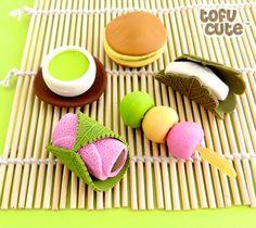 Traditional Japanese Food Kawaii Erasers   http://www.tofucute.com/traditional-japanese-food-erasers~p628.html