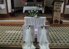 dekoracja kościoła  na  ślub Człuchów Debrzno ołtarz