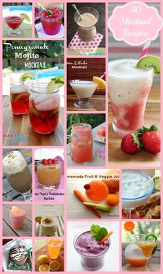 30 Non-Alcoholic Drink Recipes - Because I'm 4 Years SOBER! #recipe #drinkrecipes