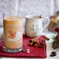 Diamond Candles Gingebread Latte Candle - Every candle has a ring hidden inside!