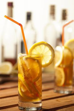 It's the end of summer but still plenty of time to enjoy a warm afternoon sipping a southern classic — sweet tea but with a kick. We've added tequila and loads of lemon. Sip slowly and savor the flavor! Gin Drink Recipes, Gin Cocktail Recipes, Iced Tea Recipes, Fun Cocktails, Winter Cocktails, Blueberry Gin, Fruity Alcohol Drinks, Gin Tasting, Wine And Liquor