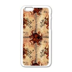 Here There Be Monsters Talking Board Apple iPhone 6 White Enamel Case by EndlessVintage