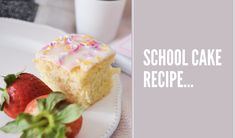 Today it's time for a good old recipe that everyone can make and everyone can enjoy! Lots of people remember having sprinkle topped cake. Old Recipes, Cake Recipes, School Cake, Sugar Sprinkles, Icing, Posts, Group, Cooking, Breakfast