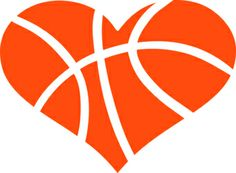 basketball heart silhouette design silhouettes and store rh pinterest com heart shaped basketball clip art Heart Shaped Basketball Outline