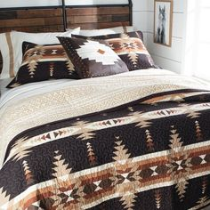 Fall Bedroom, Home Bedroom, Bedroom Decor, Bedroom Ideas, Master Bedroom, Bedrooms, Southwestern Home, Western Decor, Bedroom Styles