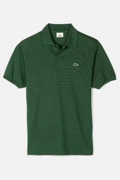 Lacoste Men's Original Cotton Pique Polo in Appalachan Green, a timeless classic.