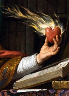Philippe de Champaigne - Saint Augustin,1645-1650 -detail