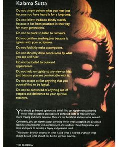 I first read the Kalama Sutta (AN 65) when I was a teenager. Although I did not fully understand the teachings offered it drew me into the dharma as I was encouraged by this suggestion to inquire for ourselves and not follow teachings or tradition blind. This freedom to investigate for myself gave me permission to start where I was on the path.  #sutta #buddhism #buddhist #buddha #buddhistquotes #buddhaquotes #meditate #meditation #mindful #mindfulness #mindfulnessmeditation #meditating…