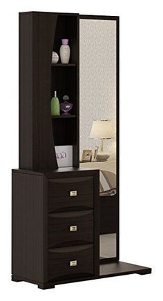 Best Dressing Table to buy online in India - Select good quality one to enhance your BedRoom Bedroom Cupboard Designs, Wardrobe Design Bedroom, Bedroom Bed Design, Bedroom Furniture Design, Bed Furniture, Home Decor Furniture, Bedroom Tv, Furniture Dressing Table, Bedroom Dressing Table