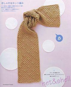 Patrones Crochet: Patron y Tutorial Bufanda Red
