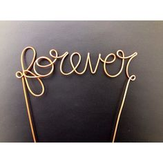 Copper Wire Forever Wedding Cake Topper by CopperMaidenJewelry