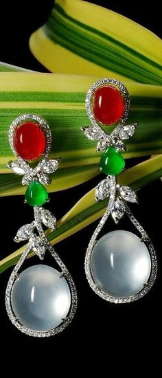Jade and Diamond Earrings #slimmingbodyshapers   To create the perfect overall style with wonderful supporting plus size lingerie come see   slimmingbodyshapers.com