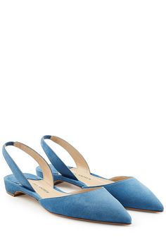 Suede Slingback Flats | Paul Andrew