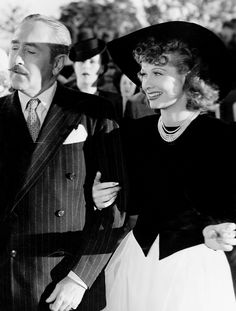 Lucille Ball photographed with Adolphe Menjou for That's Right - You're Wrong (1939)