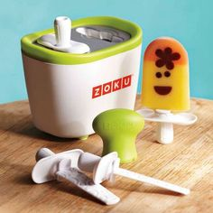 I need this! Popsicles in 7 minutes, and I can make little faces on them? Yes, please!