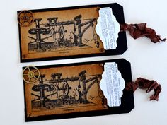 Gift Tags  Set of 2  FREE  US SHIPPING  by valburgesscollage, $4.50