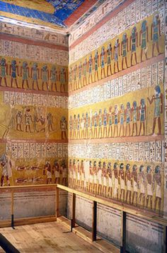 Tomb of pharaoh Ramesses IV (KV2) is located low down in the main valley, between KV7 and KV1. It has been open since antiquity and contains a large amount of graffiti. Valley of the Kings, Egypt