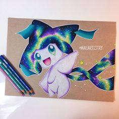 Finished this Jirachi piece  Follow my social medias: Instagram | Twitter | Twitch | YouTube » @maeartistry
