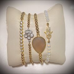 arm candy // bling // jewelry // bracelets // @girlswillbegirls