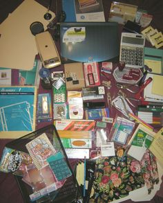 Large LOT of Office Supplies with Electric Pencil Sharpener, Desk Accessories…