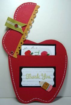 Gift card holder - cute for a teacher.