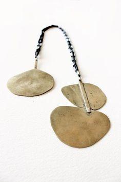 Niki Stylianou, Open necklace. 2012. Silver, bronze, patina.
