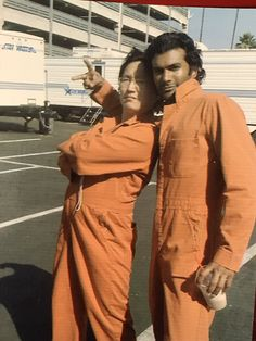"""Sendhil Ramamurthy on Twitter: """"#tbt Me & @MasiOka being straight up hardened criminals...with a frapuccino 😂 #Heroes https://t.co/Tk0oEim5F7"""""""