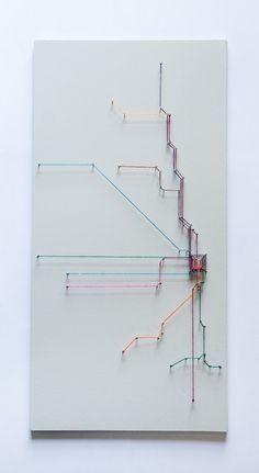 Chicago String Art- Transit Map (Gray)