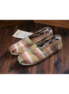 Toms Yellow Stipes Women's Classics Shoes