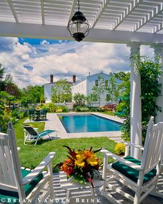 Phi Home Designs~ Stunning pool and landscaping and gorgeous home! All around the perfect place to say home sweet home :-)