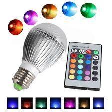 Bec LED RGB cu telecomanda 5W Led, Light Bulb, Lighting, Home Decor, Bulb Lights, Homemade Home Decor, Lights, Bulb, Lightning
