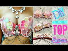 DIY: MERMAID BRA TUTORIAL - Como fazer Top de Sereia ✧ HSamaBlog - YouTube