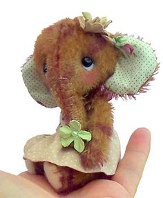 Magnolia soft toy sewing pattern to make mini by pcbangles on Etsy