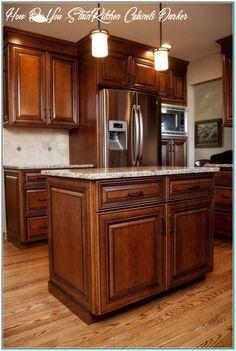 Glazed Kitchen Cabinets, Stained Kitchen Cabinets, Refacing Kitchen Cabinets, Maple Cabinets, Kitchen Cabinet Colors, Painting Kitchen Cabinets, Kitchen Redo, Rustic Kitchen, Kitchen Remodel