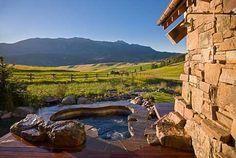 Hot tub living in Montana!  SBC Builders, Bozeman, Montana