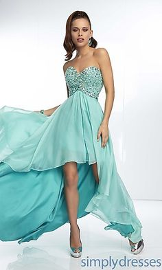 Strapless Sweetheart High Low Dress at SimplyDresses.com