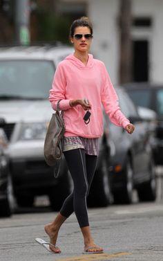 f21e2e25c9b4e Alessandra Ambrosio Out in LA July 8, 2010. Celebrity Workout ClothesGym ...