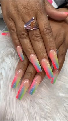 How to choose your fake nails? - My Nails Best Acrylic Nails, Summer Acrylic Nails, Acrylic Nail Designs, Summer Nails, Dope Nail Designs, Nail Swag, Gorgeous Nails, Pretty Nails, Hot Nails
