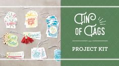 Tin of Tags Project Kit by Stampin' Up! Available September 1, 2016.  To shop, go to http://www.stampinup.com/ECWeb