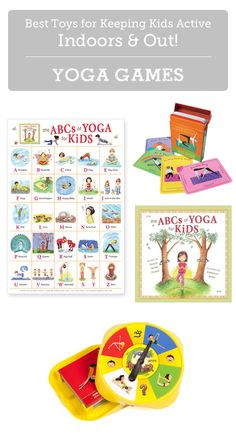 Yoga promotes health & self-esteem in kids while reducing feelings of helplessness and aggression. Plus it's a great way to burn off energy when stuck indoors! (Great gift guide - lots of toy description and suggested age ranges.)