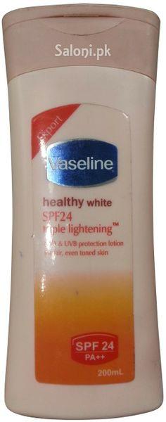 VASLINE HEALTHY WHITE SPF 24 TRIPLE LIGHTENING LOTION 200 ML Saloni™ Health