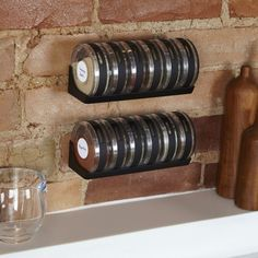 Cylindra Spice Rack by Umbra. Amazing to keep kitchen organized and spices easy to reach.